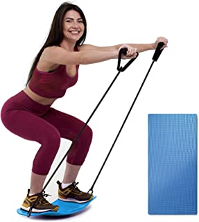 ENOKER Balance Board with Resistance Bands Fitness Board...