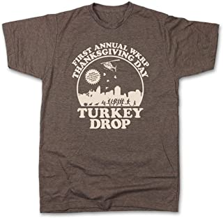 The Original WKRP Turkey Drop T-Shirt | Cincinnati Apparel | Thanksgiving Tee | TV Shirt