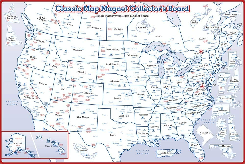 Original State Map Magnet Special price for a limited time Metal Display Collector's Spring new work one after another Board