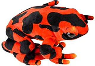 Wildlife Tree 8 Inch Small Red Poison Dart Frog Stuffed Animal Plush Floppy Zoo Reptile & Amphibian Collection