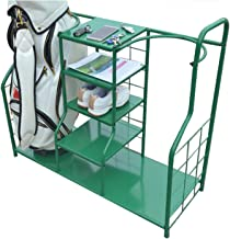 Golf Shelf, Heavy-Duty 2 Golf Bag Storage Stand and 5 layer Storage Shelf, Perfect Way to Store and Organize Your Golf Equ...