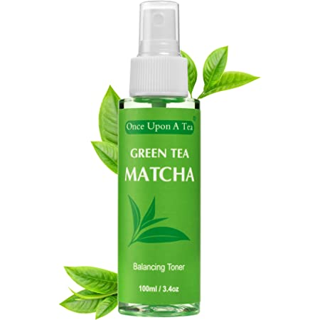 Green Tea Matcha Facial Toner, Alcohol-Free, 90% Organic Face Spray, Best Pore Minimizer & Calming Skin Treatment for Sensitive, Refreshing, Dry & Combination Types, Prep for Serum & Moisturizer