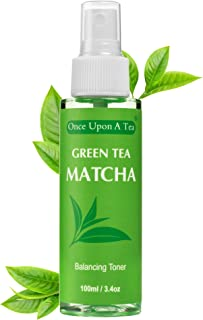 Green Tea Matcha Balancing Toner, Alcohol-Free Facial Mist, 90% Organic Face Spray, Best Pore Minimizer & Calming Skin Tre...