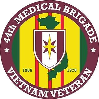 MilitaryBest 44th Medical Brigade Vietnam Veteran 5.5 Inch Decal (2 Pack)