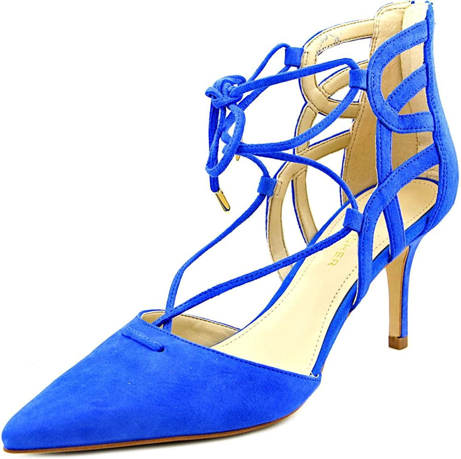Marc Fisher Womens Truthe Leather Pointed Toe Classic Pumps, bluee, Size 7.0