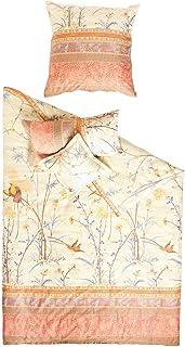 Bassetti Esprit - Juego de Cama (Funda de Almohada de 80 x 80 cm, Funda de edredón de 135 x 200 cm, satén), algodón, Beige, 155 x 220 cm