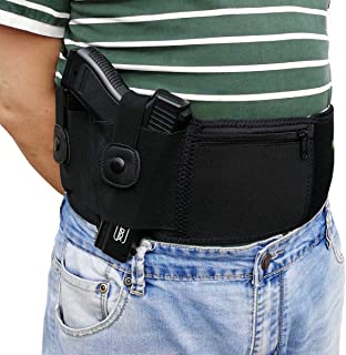 Belly Band Holsters Concealed Carry,with Magazine Pouch and Zipper Pocket