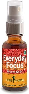 Herb Pharm Herbs on the Go Portable Spray: Certified Organic Everyday Focus, 1 Ounce