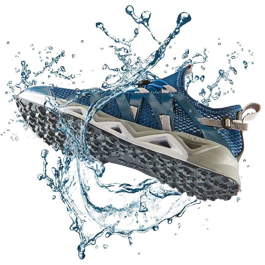 エロチックメガロポリス一致[Rax] ウォーターシューズ メンズ 速乾 マリンシューズ アクアシューズ ウォーキングシューズ 防滑 滑り止め 川渡り 釣り 水陸両用