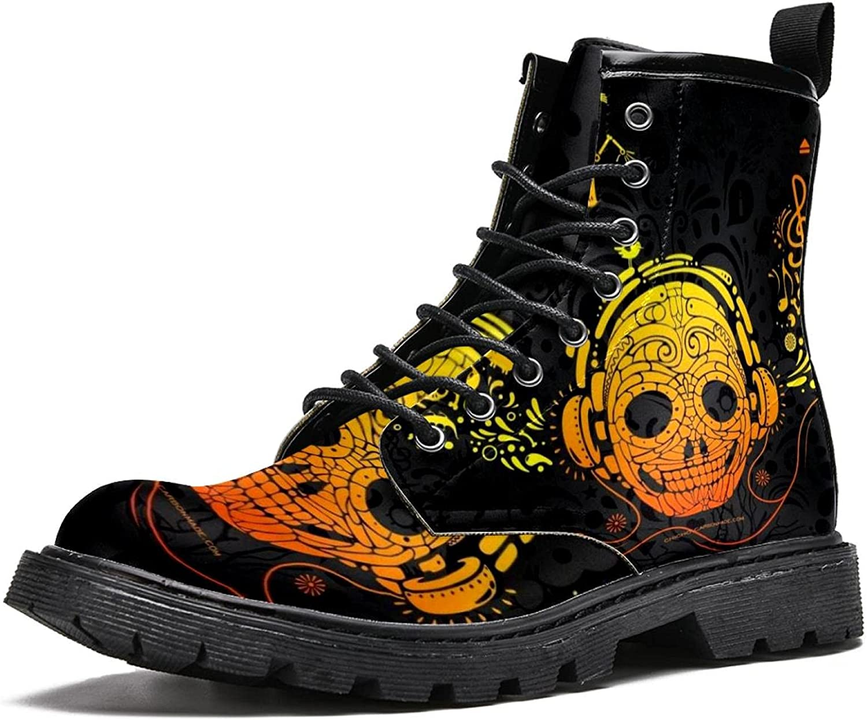 Max 59% Max 64% OFF OFF Men's Combat Boot Art Skull