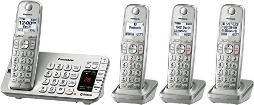 Panasonic Link2Cell Bluetooth Cordless DECT 6.0 Expandable Phone System with Answering..