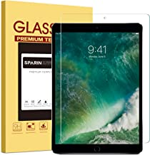 SPARIN New iPad Pro 12.9 (2017) / iPad Pro 12.9 Screen Protector, Tempered Glass/Multi-Touch Compatible/Bubble-Free/Anti-Scratch Screen Protector for 12.9-Inch iPad Pro (2015, 2017 Release)