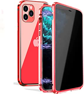 Privacy Magnetic Case for iPhone 11 Pro, Anti-Peeping Magnetic Case [Clear Double Sided Tempered Glass] Privacy Screen Pro...