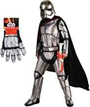 Star Wars The Force Awakens Captain Phasma Costume Bundle Set - Deluxe Adult Standard Costume and Gloves Silver