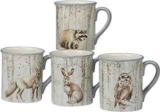 Certified International Corp 22723SET4 A A Woodland Walk 18 oz. Mugs, Assorted Designs, Set of 4, Multicolor