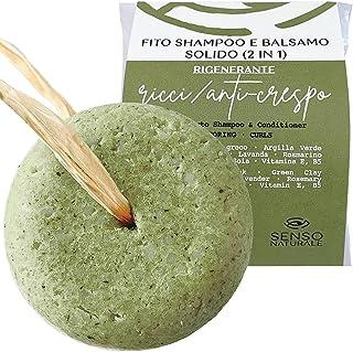Senso Naturale Shampoo Solido per capelli RICCI - RIGENERANTE Ecologico e Vegano - capelli mossi, doppie punte - a base di...