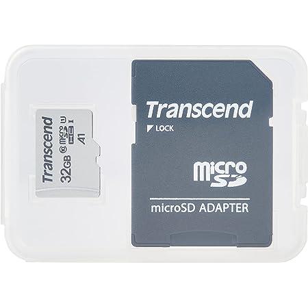 Transcend TS32GUSD300S-AE, Tarjeta de memoria microSDHC de 32 GB Premium 300S clase 10, U1, UHS-I (hasta 95 MB/s), con adaptador,
