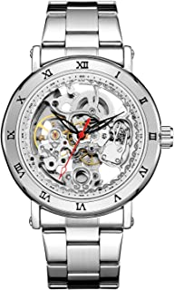 Wristwatch Mechanical Men Carving Skeleton Auto self-Wind Watches Transparent