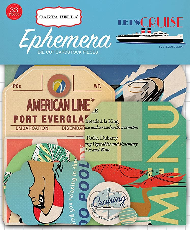 Carta Bella Paper Company Let's Cruise Ephemera
