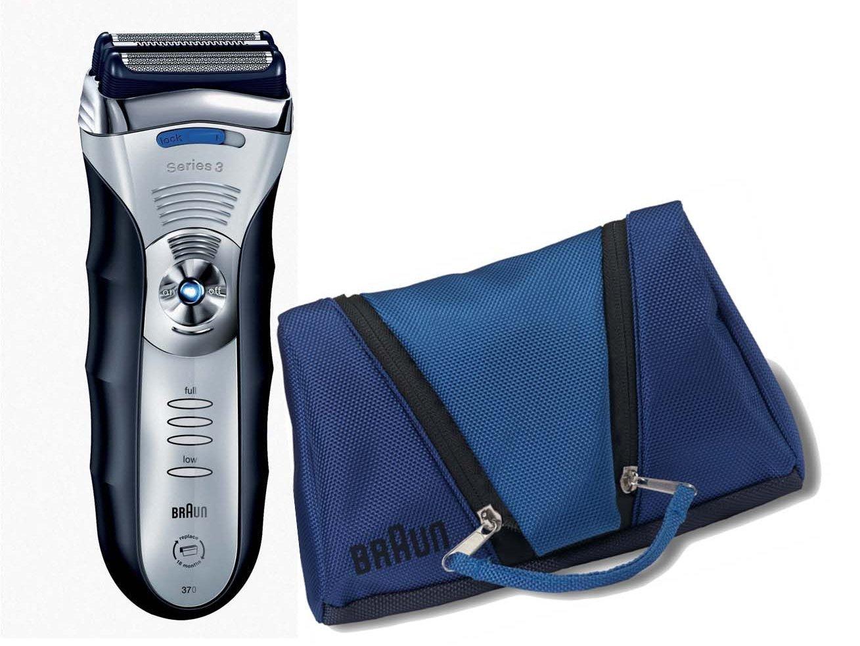 Braun 370 - Afeitadora (Máquina de afeitar de láminas, Azul, Plata, Ión de litio, 45 min): Amazon.es: Hogar