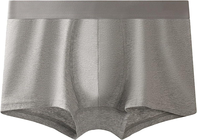 Men's Comfortable Elastic Waist Boxer Solid Color Large Size Underwear