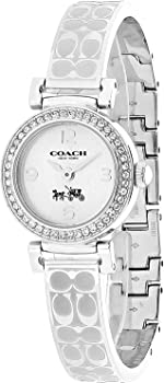 Coach Madison Signature Silver Stainless Bangle Glitz Women's Watch