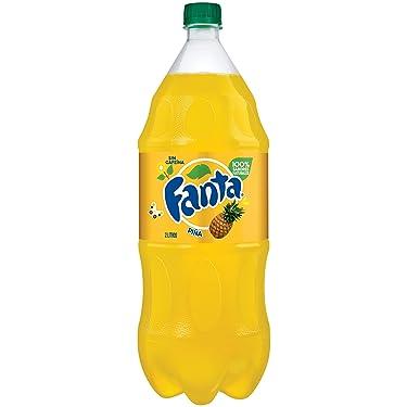 Fanta Pineapple Soda Fruit Flavored Soft Drink, 2 Liter Bottle