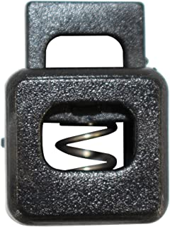 Square Block Spring Cord Lock (21mm x 16mm) - SGT KNOTS - Black Plastic Toggle Stopper - Cordlock Stoppers for 1/8 Cord, Paracord, Drawstrings, Bags, Shoelaces, Clothing, More (25 Pack)