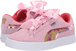 Suede Heart Trailblazer Sequins (Little Kid)