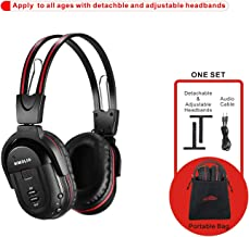 SIMOLIO 1 Pack of IR Wireless Headphones for Car DVD/TV, 2 Channel Car Headphones for Kids with 3.5mm Aux Cord, Cars Kids Headphones
