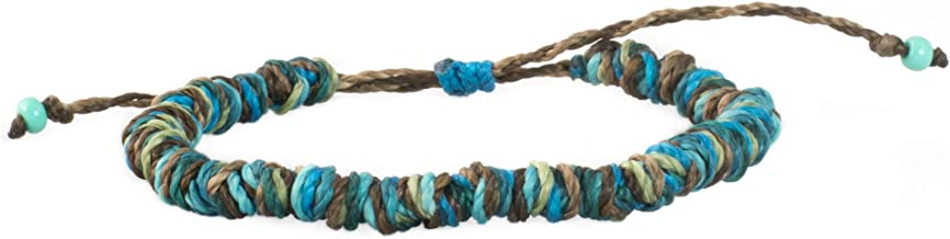 Ocean Vibe Surfer Bracelet for Women and Men Beach Surf Yoga Hippie Boho Chic Jewelry Slip Knot