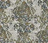 A.S. Création Vliestapete Havanna Tapete mit Ornamenten orientalisch 10,05 m x 0,53 m grau metallic schwarz Made in Germany 319644 31964-4