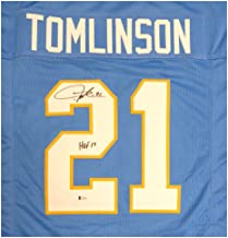 San Diego Chargers LaDainian Tomlinson Autographed Signed Powder Blue Jersey HOF 17 - Beckett Authentic