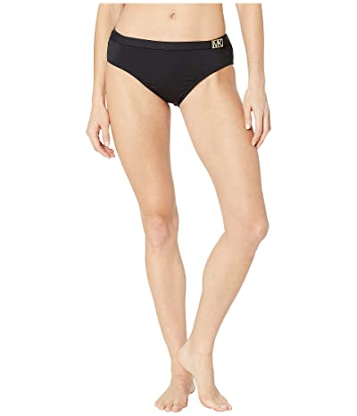 MICHAEL Michael Kors Logo Solids Belted Bottoms (Black) Women