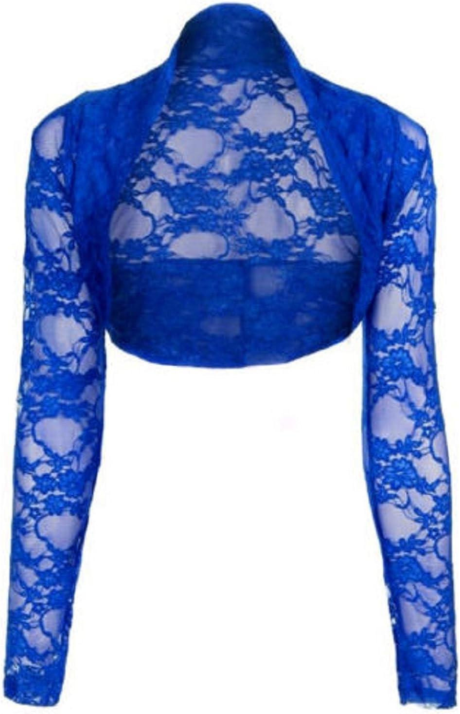 Lace Bolero Cardigan Long Sleeve One Size UK 8-14 US 4-10