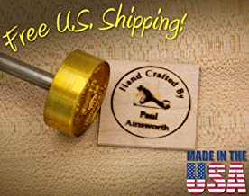"Personalized""Hand Crafted by"" Custom Branding Iron (1.5 Inch (38mm))"