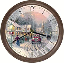 Songbird Essentials Thomas Kinkade Christmas Village Musical Wall Clock - Hourly Seasonal Songs