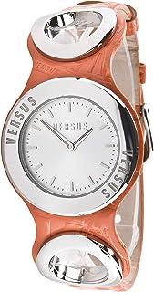 Versus Versace - Versus A063SBQ902-A165 - Reloj de Pulsera Hombre, Cuero, Color Naranja