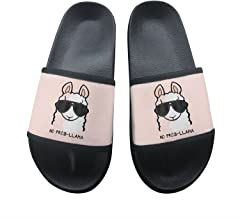 No Prob- Llama Summer Slippers Non-Slip Beach Sandals House Shoes Soft Floor Slipper Open Toe