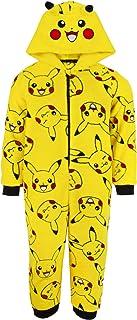 Pokemon Onesie Jongens Pikachu Yellow 3D Oren Kids Pyjama PJ's