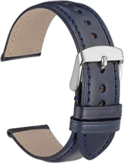 WOCCI Leather Watch Band - 18mm 20mm 22mm Untextured Watch Strap Replacement for Men or Women