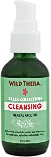 Wild Thera Organic Face Cleanser. Herbal deep cleansing oil to clean pores, repair & tighten skin, minimize pores, reduce inflammation, remove makeup, mascara, dirt & impurities.