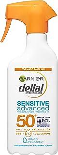 Garnier Protector Solar Spray Adultos Delial Sensitive Advanced para pieles claras, sensibles e intolerantes al sol, IP50+...
