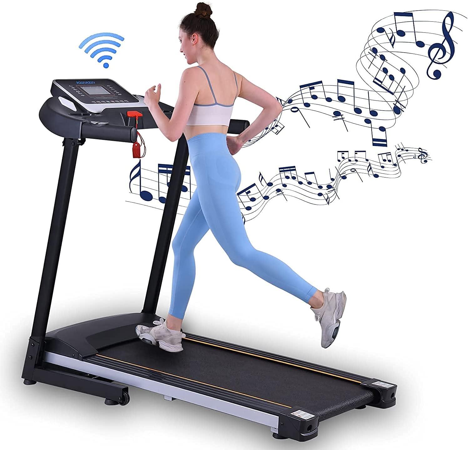 Translated Folding Genuine Treadmills Electric Treadmill for Running Machine Home