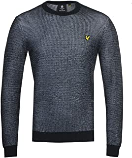 Lyle and Scott Mens Crew Neck Knitted Jumper - Cotton