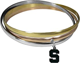 NCAA Michigan State Spartans Womens Tri-color Bangle Bracelet