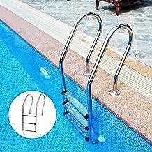 Luckyshuai Piscina Escalera Escalera de Acero Inoxidable Reemplazo Antideslizante Escalera Antideslizante Pedal Piscina Accesorios (sin reposabrazos (Color : 1pc)