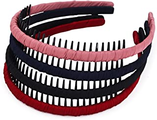 STHUAHE4PC Multicolor Protection Resin Teeth Comb Hair Hoop Hairband Headband Hair..
