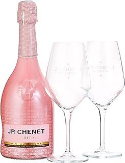 J.P. Chenet Ice Edition Rosé Halbtrocken Geschenkset mit 2 Gläsern 1 x 0.75 l