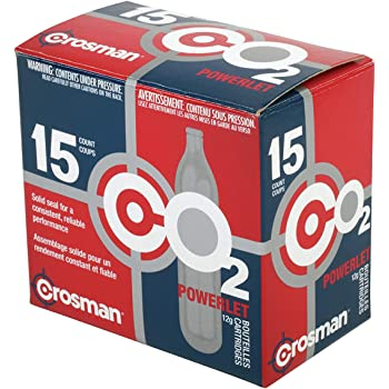 Crosman 12-Gram CO2 Powerlet Cartridges for Use with Air Rifles and Air Pistols